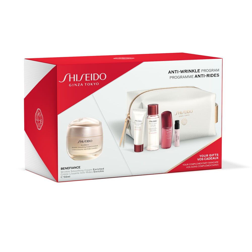 Anti-Wrinkle Program Pouch Set - Wrinkle Smoothing Cream Enriched,