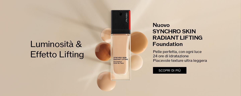Luminosità & Effetto Lifting Nuovo SYNCHRO SKINRADIANT LIFTING Foundation Pelle perfetta, con ogni luce 24 ore di idratazione Piacevole texture ultra leggera
